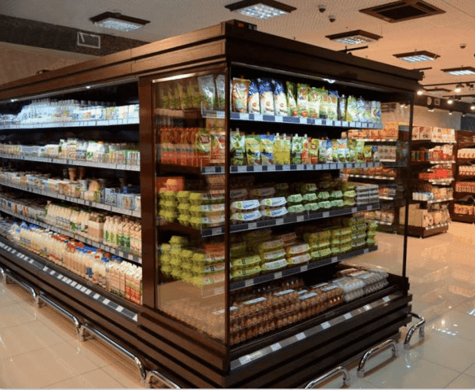 холодильные горки для магазинов