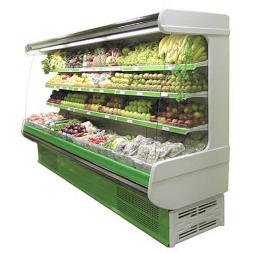Холодильные горки для овощей и фруктов