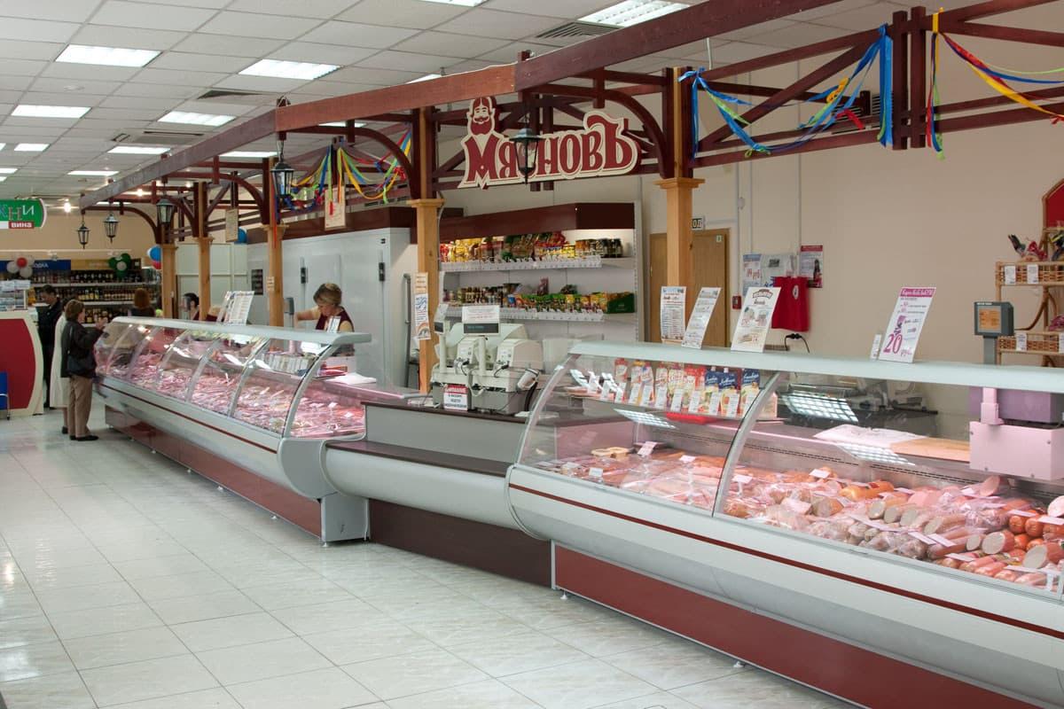Витрины для продажи колбасы