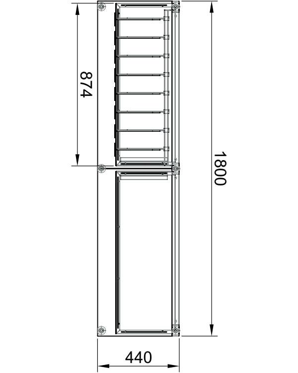 Модуль пристенный 2-х секционный