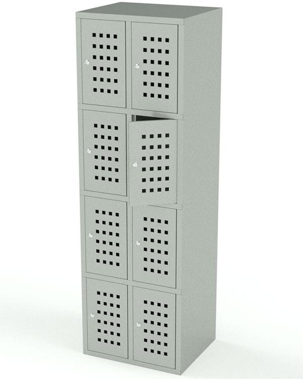 Вертикальный шкаф для хранения сумок 8 ячеек