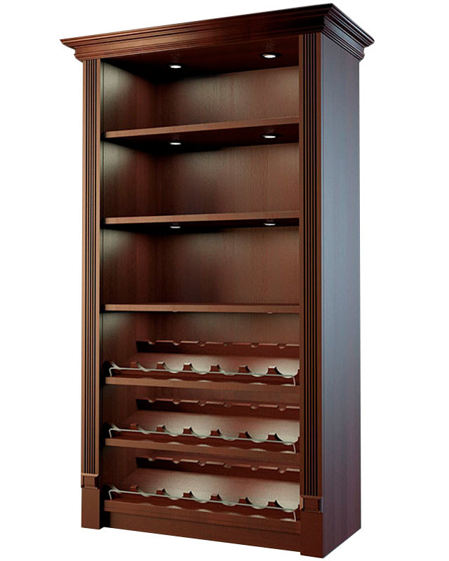 Шкаф для алкоголя с держателями для винных бутылок LD 002