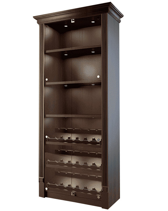Шкаф для алкоголя со стеклянными дверцами LD 002-CT