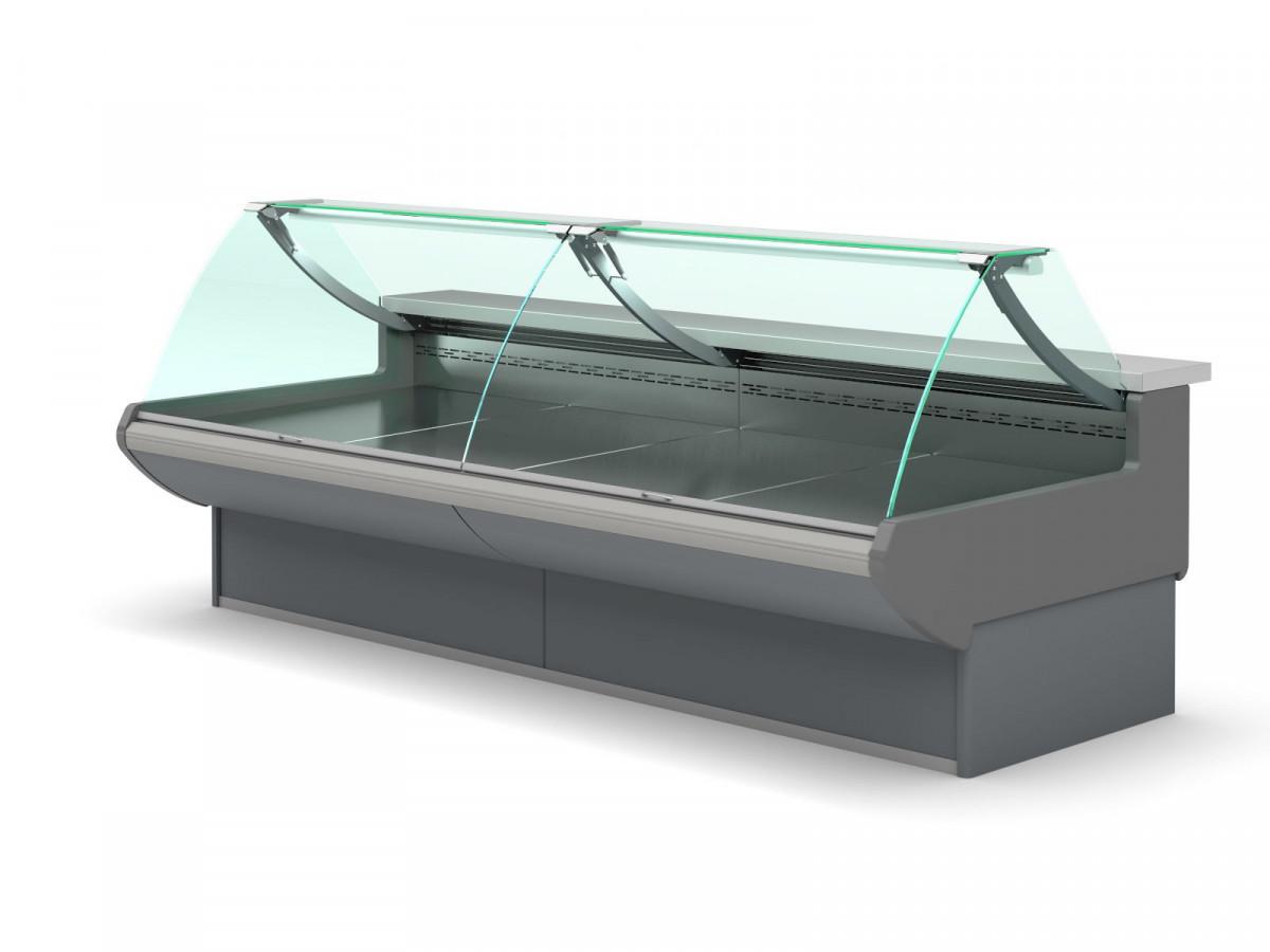Холодильная витрина с гнутым стеклом для ресторана AERO