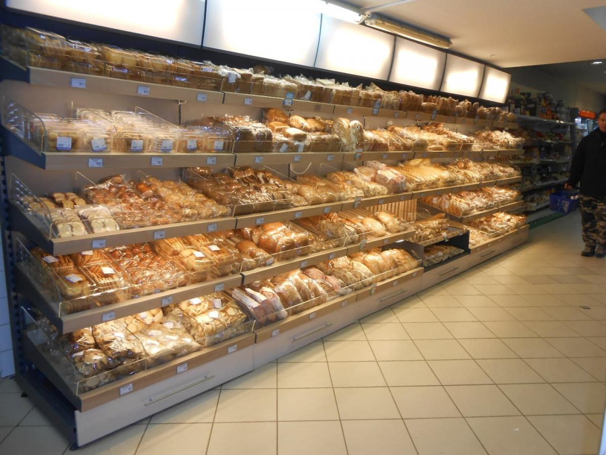 Стеллаж для хлеба и булок с фризом