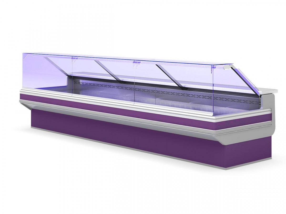 Холодильная витрина с прямым стеклом для ресторана HORUS