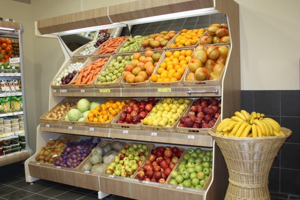 витрины для магазина овощи фрукты фото