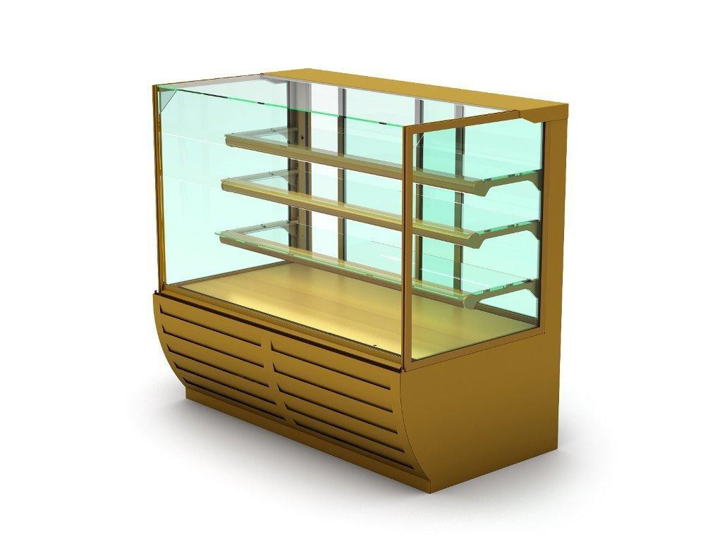 Холодильная витрина с прямым стеклом для ресторана SOUL
