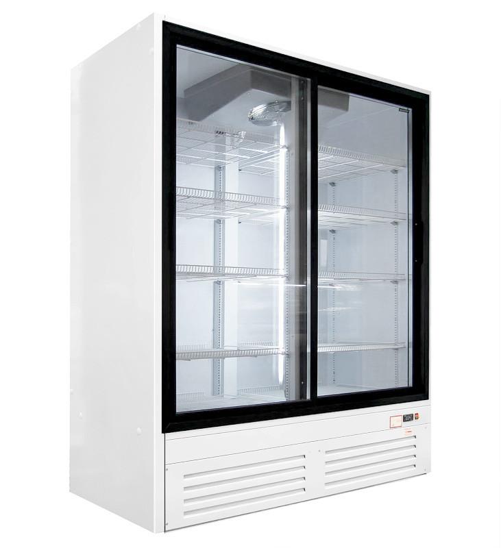 Шкаф холодильный ПРЕМЬЕР ШВУП1ТУ-1,6С2 (распашные двери, остекление в двух сторон)