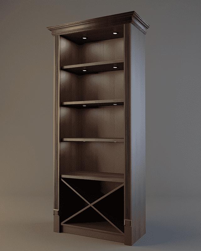 Шкаф для фирменного алкоголя с зеркалом и подсветкой V 021