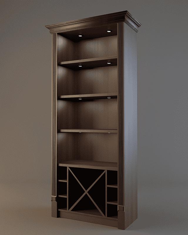 Шкаф для алкогольных напитков с зеркальной стенкой V 019