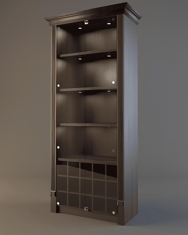 Шкаф для дорогого алкоголя с подсветкой и зеркалом LD 005