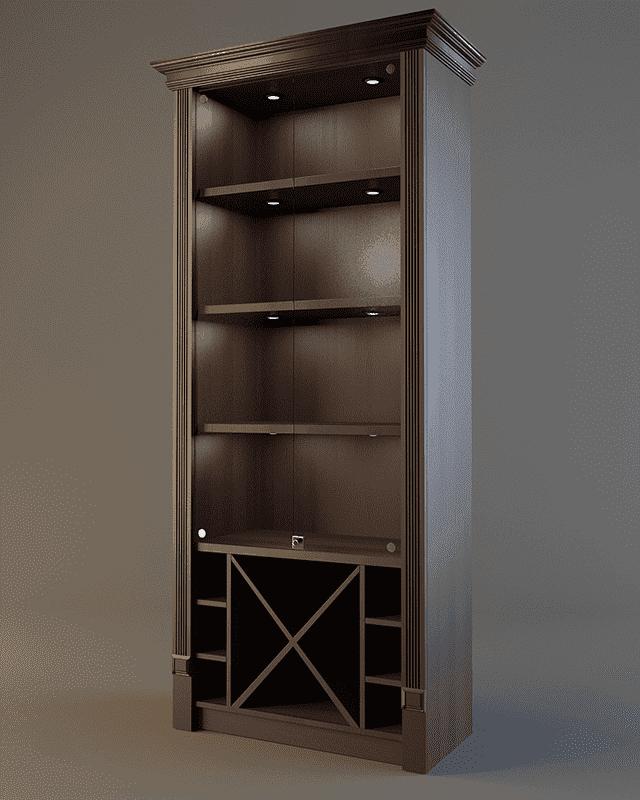 Шкаф для алкоголя с зеркалом и подсветкой LD 004