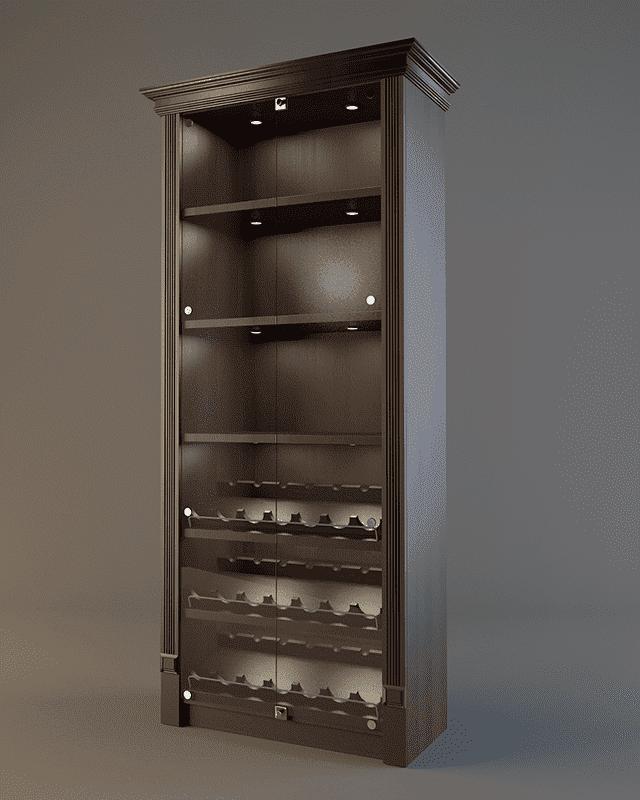 Шкаф для алкоголя с фризом и подсветкой LD 002