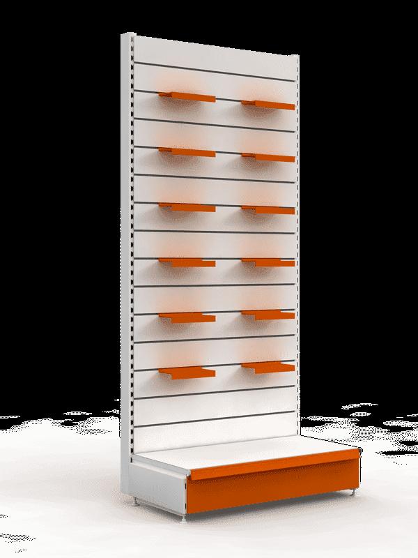 Стеллаж с эконом-панелями пристенный