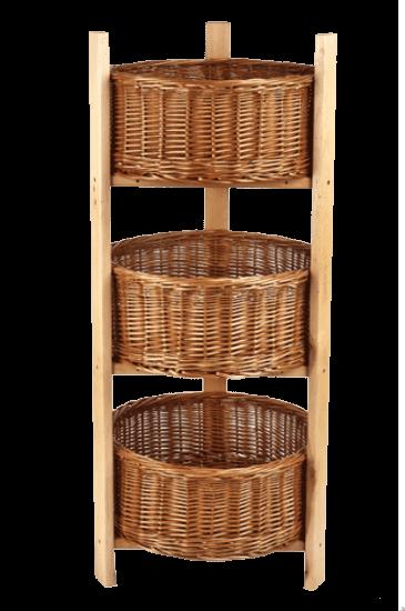 Стойка с тремя опорами под круглые корзины